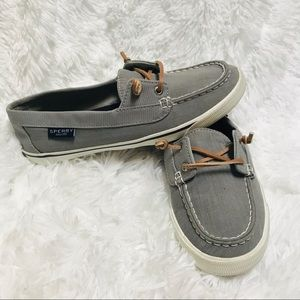 SPERRY • top sider gray loafers NWOT women's 7.5